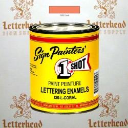 1 Shot Lettering Enamel Paint Coral 120L - Quart