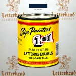 1 Shot Lettering Enamel Paint Dark Blue 158L - Pint