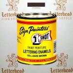 1 Shot Lettering Enamel Paint Dark Brown 115L - Pint