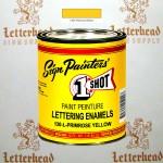1 Shot Lettering Enamel Paint Primrose Yellow 130L - Pint