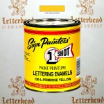 1 Shot Lettering Enamel Paint Primrose Yellow 130L - Quart
