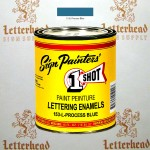 1 Shot Lettering Enamel Paint Process Blue 153L - Pint