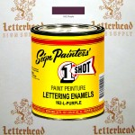1 Shot Lettering Enamel Paint Purple 162L - Quart