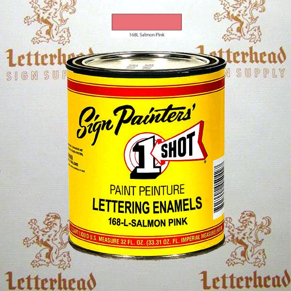 1 Shot Lettering Enamel Paint Salmon Pink 168L - Quart