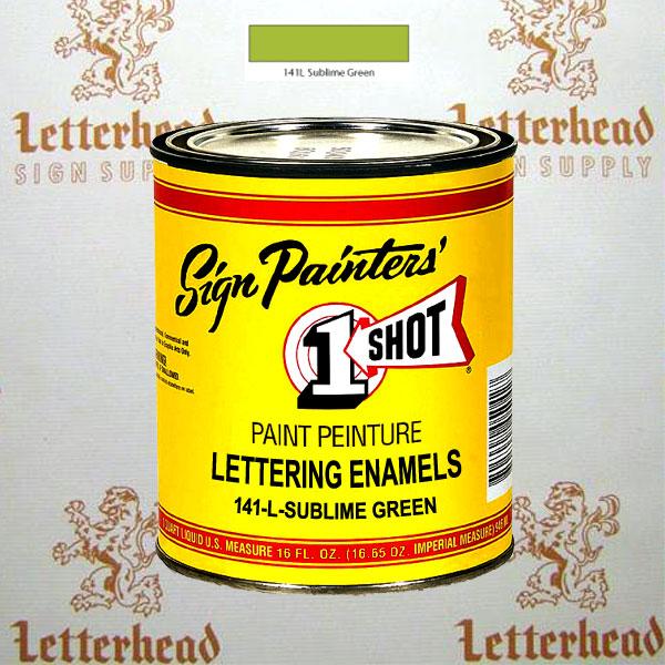 1 Shot Lettering Enamel Paint Sublime Green 141L - Pint