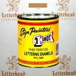 1 Shot Lettering Enamel Paint Tan 117L - Quart