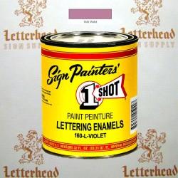 1 Shot Lettering Enamel Paint Violet 160L - Quart