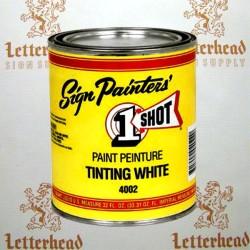 1 Shot Lettering Tinting White 4002 - Quart