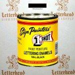 1 Shot Lettering Enamel Paint Black 199L - Quart