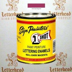 1 Shot Lettering Enamel Paint Dark Magenta 164L - Pint