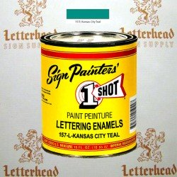 1 Shot Lettering Enamel Paint Kansas City Teal 157L - Pint