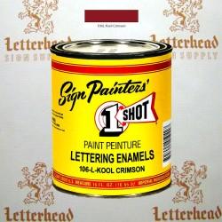 1 Shot Lettering Enamel Paint Kool Crimson 106L - Pint
