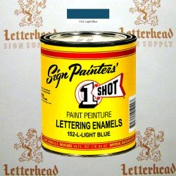 1 Shot Lettering Enamel Paint Light Blue 152L - Pint