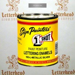 1 Shot Lettering Enamel Paint Metallic Silver 193L - Quart