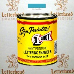 1 Shot Lettering Enamel Paint Peacock Blue 154L - Quart