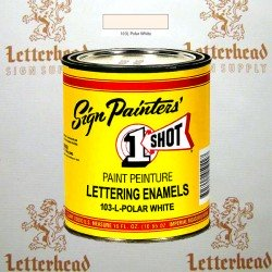 1 Shot Lettering Enamel Paint Polar White 103L - Pint