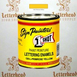 1 Shot Lettering Enamel Paint Primrose Yellow 130L - Pint