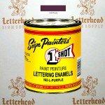 1 Shot Lettering Enamel Paint Purple 162L - Pint