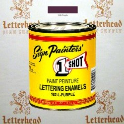 1 Shot Lettering Enamel Paint Purple 162L - Pint
