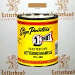 1 Shot Lettering Enamel Paint Tan 117L - Pint