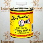 1 Shot Lettering Enamel Paint White 101L-Pint