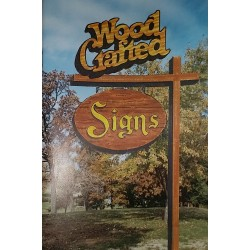 80's Wood Crafted Signs- Book