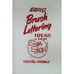 80's Style Rapid Brush Lettering Ideas for the Sign Shop- Book
