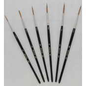 Series 127 Sable Scroll Brushes