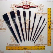 Series 1962 Flats Lettering Mack Brushes