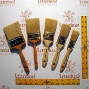 cutter brushes white bristle double series 5880