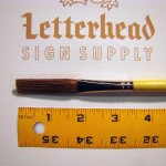 Flat Lettering Brush Grey Stroke series-1932 size 1/8""