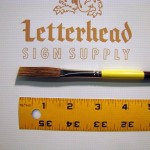 Flat Lettering Brush Grey Stroke series-1932 size 3/8""
