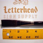 "Flat Lettering Brush ""Soft Stroke"" Brown series-1992 size 3/4"""