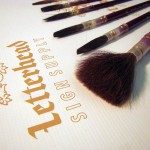 Sign painter lettering brushes full set series 179L brown size 0-30