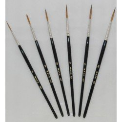 Mack Brush Series 127 Sable Script Brushes