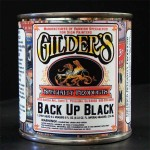 Gilders Gold Leaf Back Up Paint - Black Quart