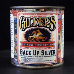 Gilders Gold Leaf Backup Paint 1/2 Pint - Silver