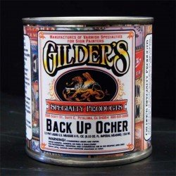 Gilders Gold Leaf Backup Paint 1/2 Pint - Ochre