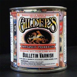 Gilders Bulletin Spar Varnish Gold Leaf Clear Coat-half pint