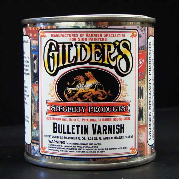 Gilders Bulletin Spar Varnish Gold Leaf Clear Coat-half pint