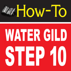 Water Gilding Step By Step Part 10