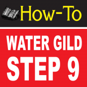 Water Gilding Step By Step Part 9