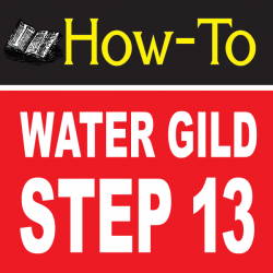 Water Gilding Step By Step Part 13