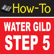 Water Gilding Step By Step Part 5