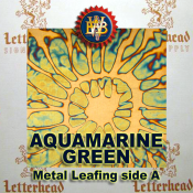 Aquamarine Green Variegated Metal Leaf