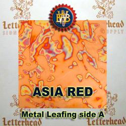 Asia Red Variegated Metal Leaf