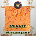 Variegated Metal Leaf-Asia Red