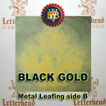 Variegated Metal Leaf-Black Gold 20 Book Pack