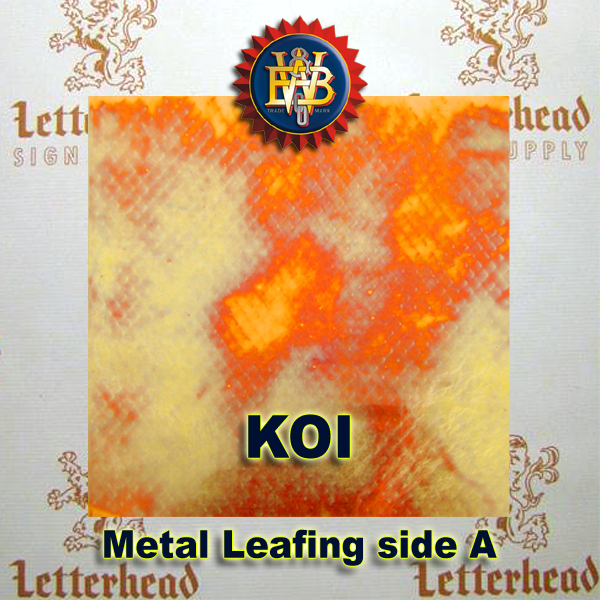 Variegated Metal Leaf-Koi Red 20 Book Pack