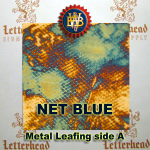 Variegated Metal Leaf-Net Blue book